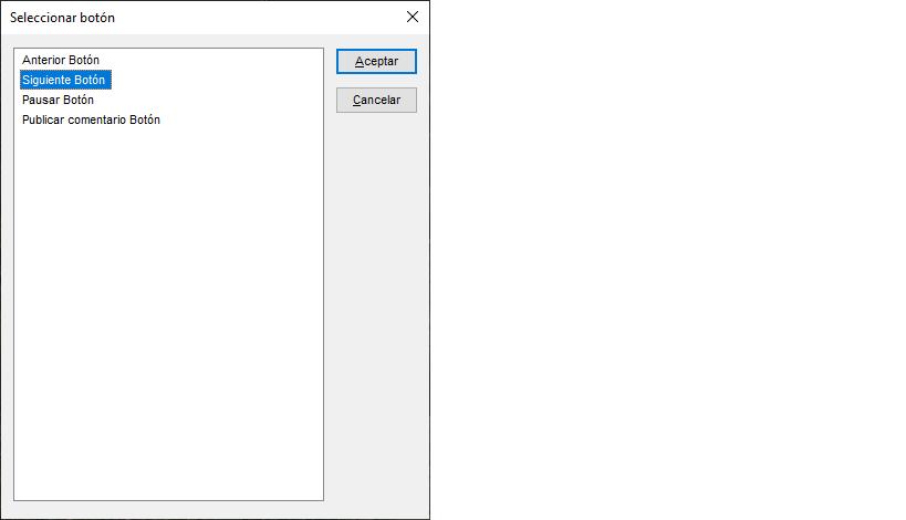 El lector de pantalla JAWS muestra el Botón Siguiente.
